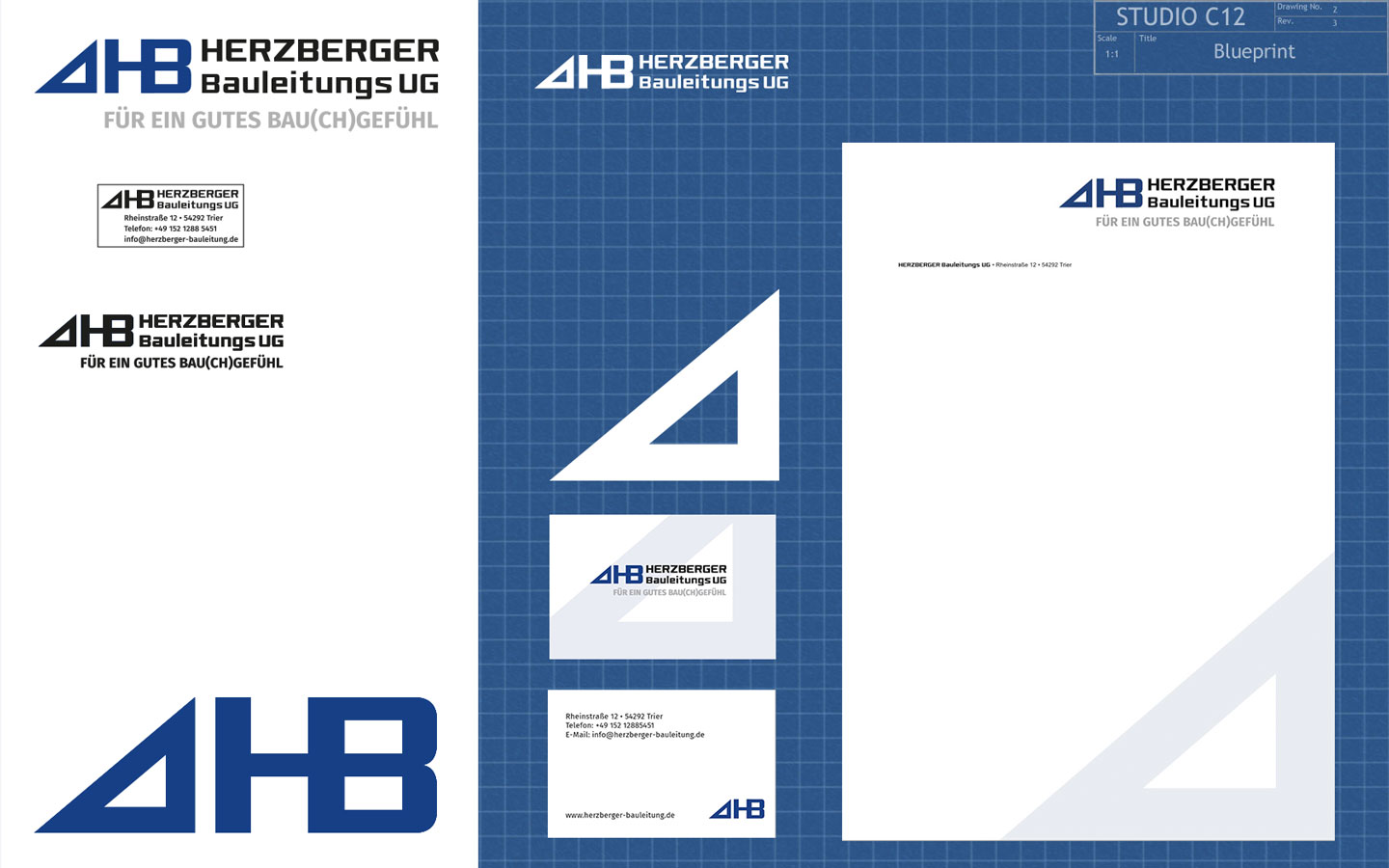Herzberger Bauleitung UG Corporate Design